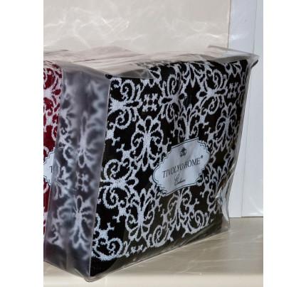 Набор полотенец Tivolyo Casablanca Flower (черный) 2 предмета