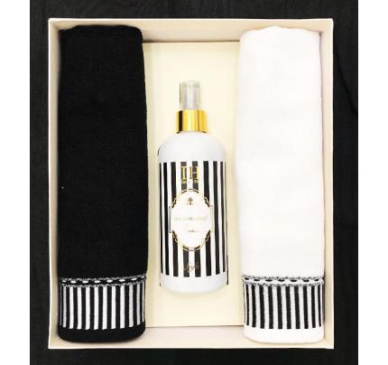 Набор полотенец Tivolyo Casablanca Line (40x60, 2 предмета + ароматизатор) черный