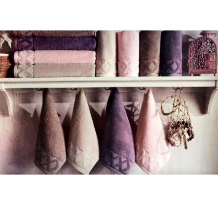 Набор полотенец La Villa Clamp (фиолетовый) 3 предмета
