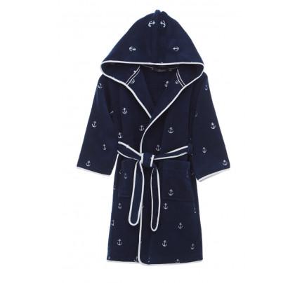 Халатик детский Soft cotton Marine (синий)