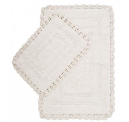 Набор ковриков Irya Debra ecru (40x60+60x90)
