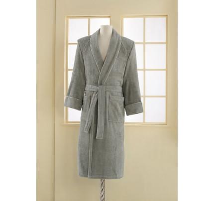 Халат мужской Soft Cotton Deluxe (серый)