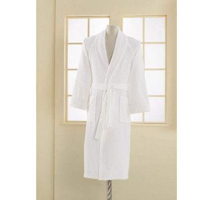 Халат мужской Soft Cotton Deluxe (белый)