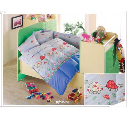 Детское белье в кроватку Altinbasak Neseli Черепашки (голубое)