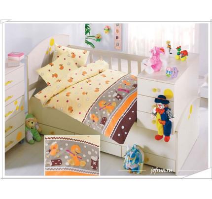 Детское белье в кроватку Altinbasak Vakvak Утенок (коричневое)