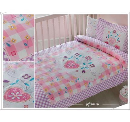 Детское белье в кроватку TAC Happy Baby (лиловое)