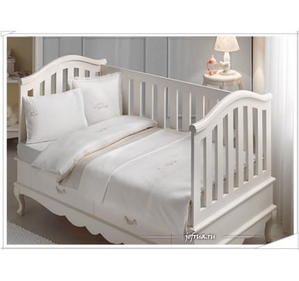 Набор в кроватку с покрывалом Tivolyo Happy (бежевое)