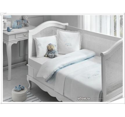 Набор в кроватку с покрывалом Tivolyo Happy (голубое)