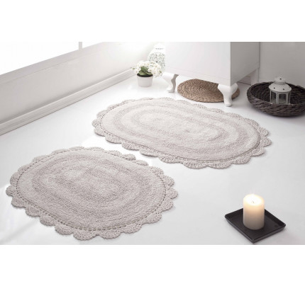Набор ковриков для ног Modalin Diana (бежевый) 50x80+45x60
