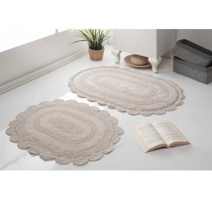 Набор ковриков для ног Modalin Diana (кофейный) 50x80+45x60