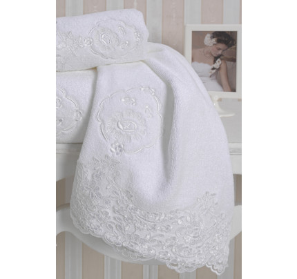 Полотенце Soft Cotton Diana (белое)