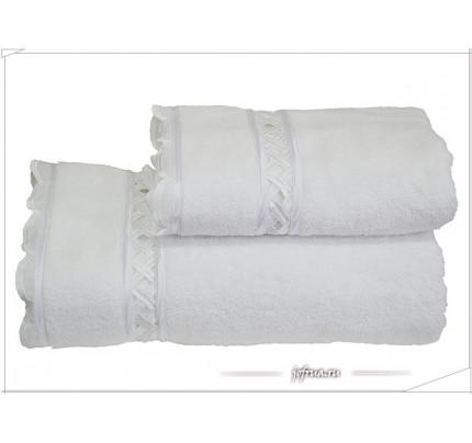 Полотенце Soft Cotton Diva Dantelli (белое)