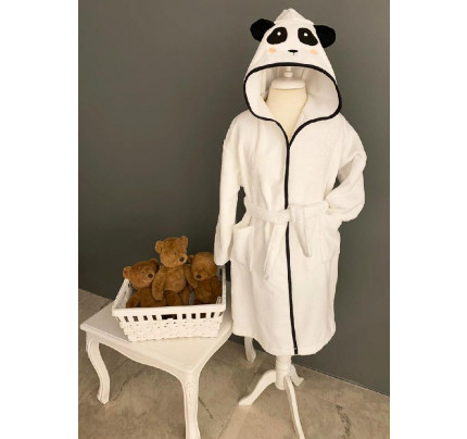 Халатик детский La Villa de Paris Panda (серый)