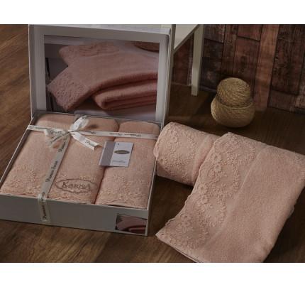 Набор полотенец Karna Elinda (абрикосовый, 2 предмета)