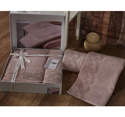 Набор полотенец Karna Elinda (пудра, 2 предмета)