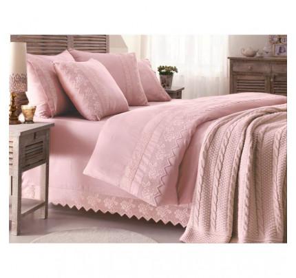 Вязаный плед Gelin Home Erguvan (розовый) 220х240