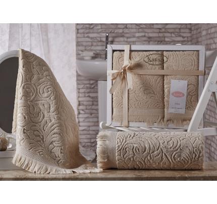Набор полотенец Karna Esra (бежевый, 2 предмета)
