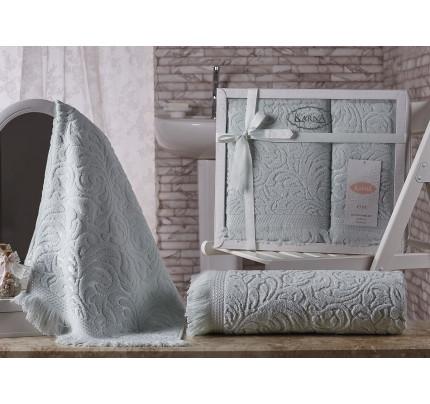 Набор полотенец Karna Esra (зеленый, 2 предмета)