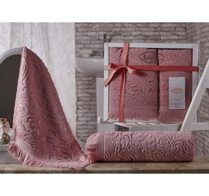 Набор полотенец Karna Esra (розовый, 2 предмета)