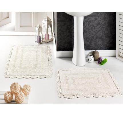 Набор ковриков для ног Modalin Evora (кремовый) 50x70+60x100