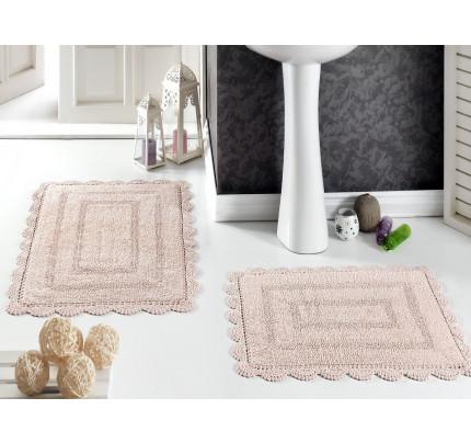 Набор ковриков для ног Modalin Evora (пудра) 50x70+60x100