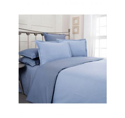 Постельное белье SAREV Fancy stripe голубой-светло-голубой евро