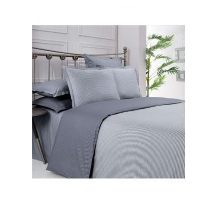 Постельное белье SAREV Fancy stripe серый-темно-серый евро