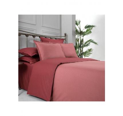 Постельное белье SAREV Fancy stripe кирпичный-красный евро