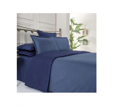 Постельное белье SAREV Fancy stripe синий-темно-синий евро