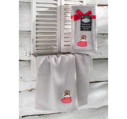 Новогоднее полотенце-салфетка Karna Noel (серый) V4 40x60