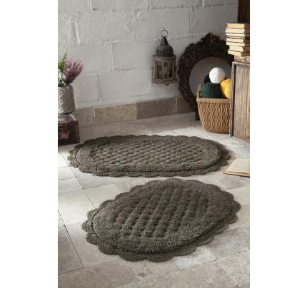 Набор ковриков для ног Modalin Merit (темно-коричневый) 45x60+50x80
