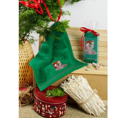 Новогоднее полотенце-салфетка Karna Noel V8 30x50
