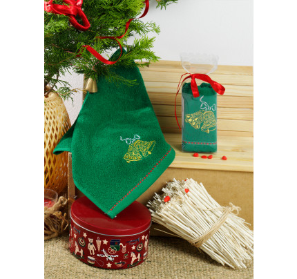 Новогоднее полотенце-салфетка Karna Noel V9 30x50