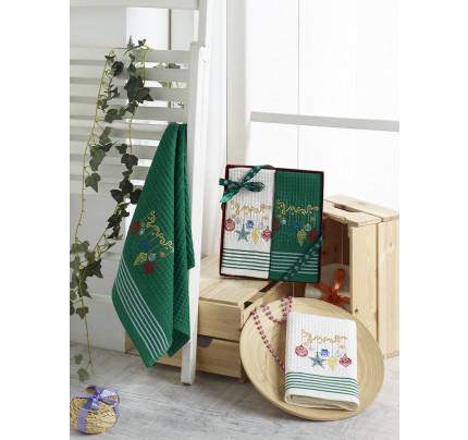 Новогодний набор салфеток Karna Happy V9 (40x60, 2 предмета)