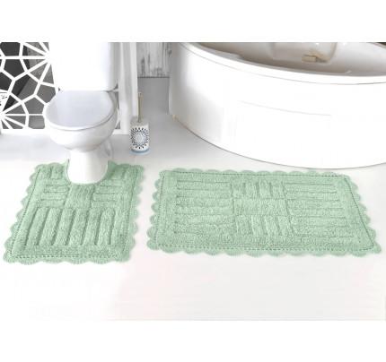 Набор ковриков для ног Modalin Ancor (ментол) 50x70+60x100