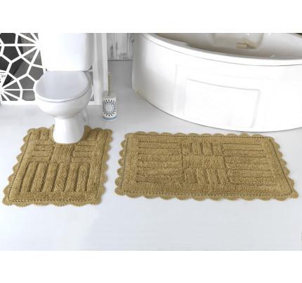 Набор ковриков для ног Modalin Ancor (темно-бежевый) 50x70+60x100