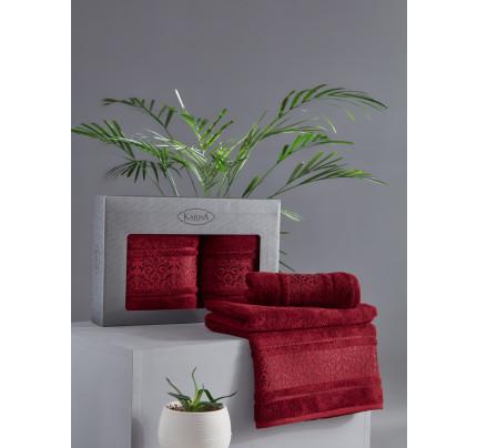 Набор полотенец Karna Armond (бордовый, 2 предмета)