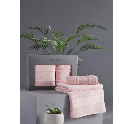 Набор полотенец Karna Armond (розовый, 2 предмета)