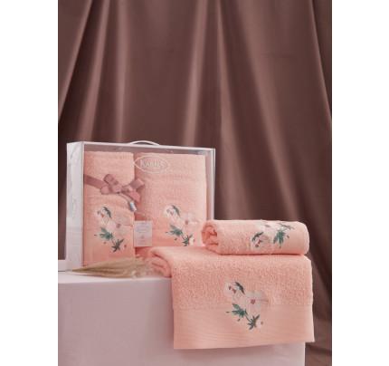 Набор полотенец Karna Valdi (абрикосовый, 2 предмета)