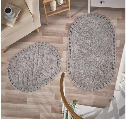 Набор ковриков для ног Modalin Cross (серый) 50x70+60x100