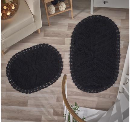 Набор ковриков для ног Modalin Cross (черный) 50x70+60x100