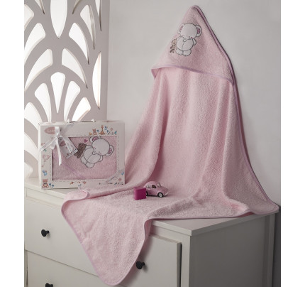 Полотенце-конверт Karna Bambino Slon (розовый)