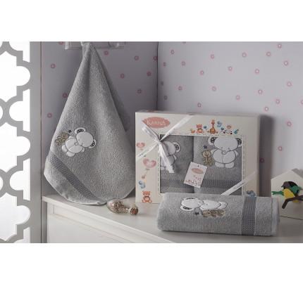 Набор полотенец Karna Bambino Slon (2 предмета, серый)