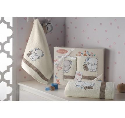 Набор полотенец Karna Bambino Slon (2 предмета, кремовый)