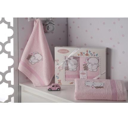 Набор полотенец Karna Bambino Slon (2 предмета, розовый)
