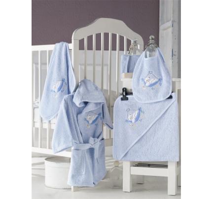 Банный набор Karna Baby Club на 1-3 года (5 предметов, голубой)