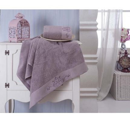 Набор полотенец Karna Velsen (фиолетовый, 2 предмета)