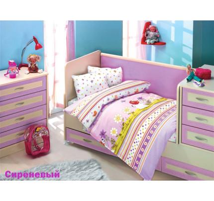 Детское белье в кроватку Altinbasak Gulucuk Песик (сиреневое)