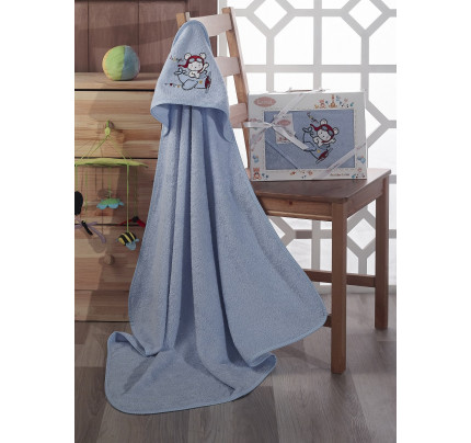 Полотенце-конверт Karna Bambino Samalot (голубой)