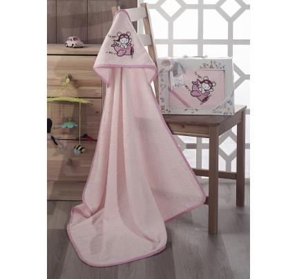 Полотенце-конверт Karna Bambino Samalot (розовый)